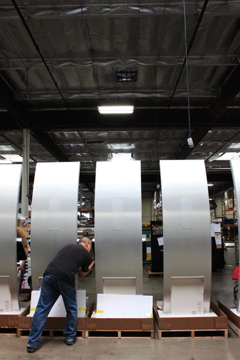 BonTon Retail Kiosks' Stainless Steel finish