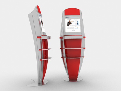 Ferrari inspired design custom kiosk design for Architecture kiosk design