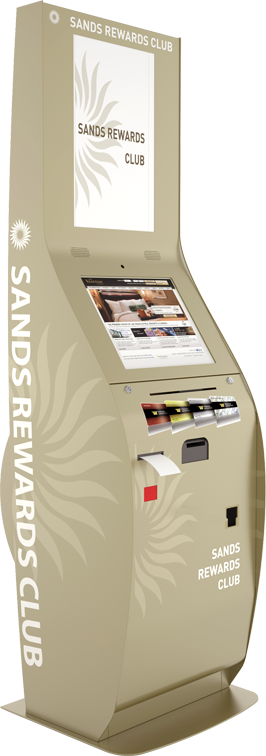 Sands Casino Rewards Club Loyalty Program Kiosk