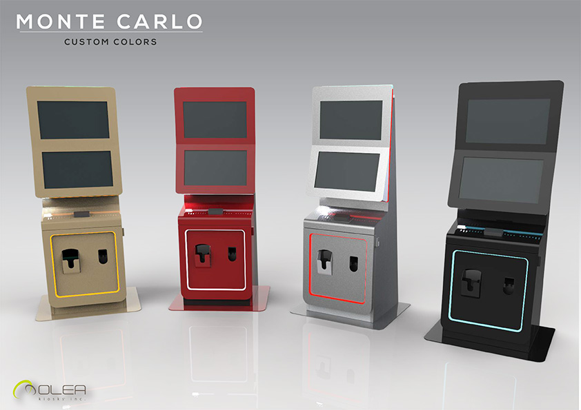 Olea Monte Carlo Casino Gaming Kiosks - Color Options