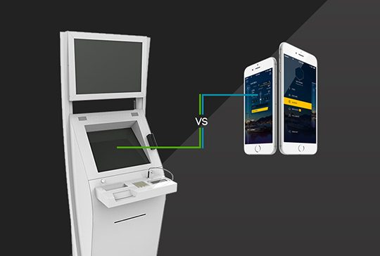 Interactive kiosks vs. mobile apps