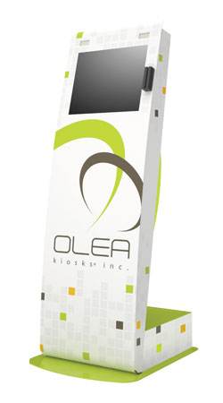 Full Color, Kiosk Body Wrap (Shown on a powder coated green kiosk)