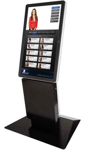 virtual receptionist kiosk by olea