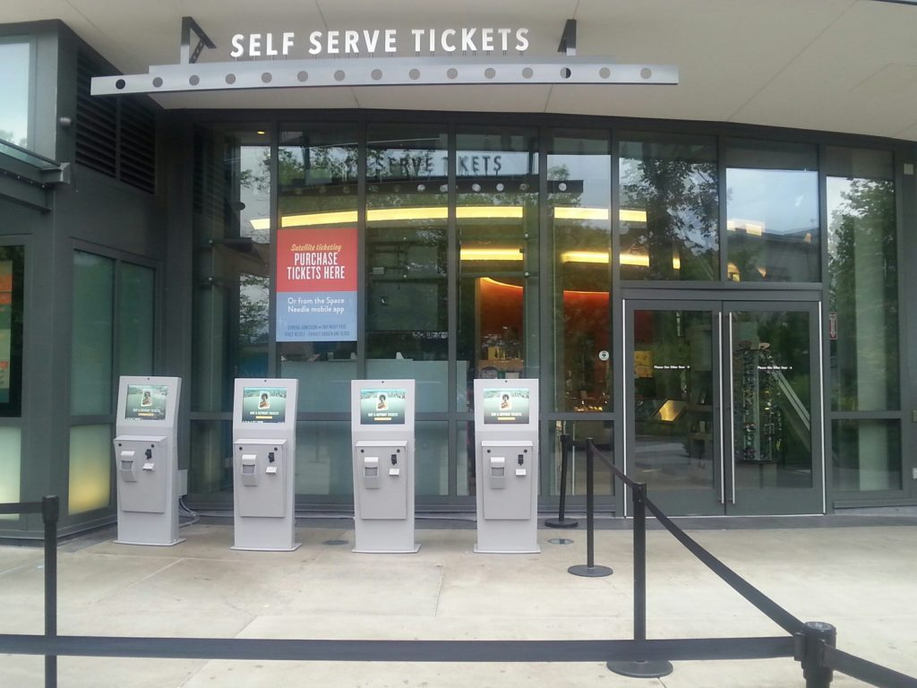 outdoor ticket kiosk