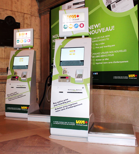 ViaRail - Branded Ticketing Kiosks