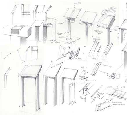 Kiosk Design Sketches