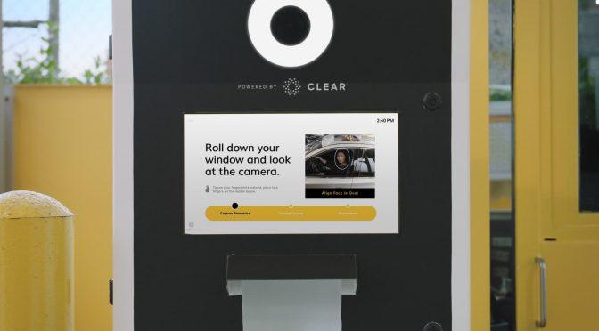 Hertz CLEAR Biometric Facial Recognition Kiosk