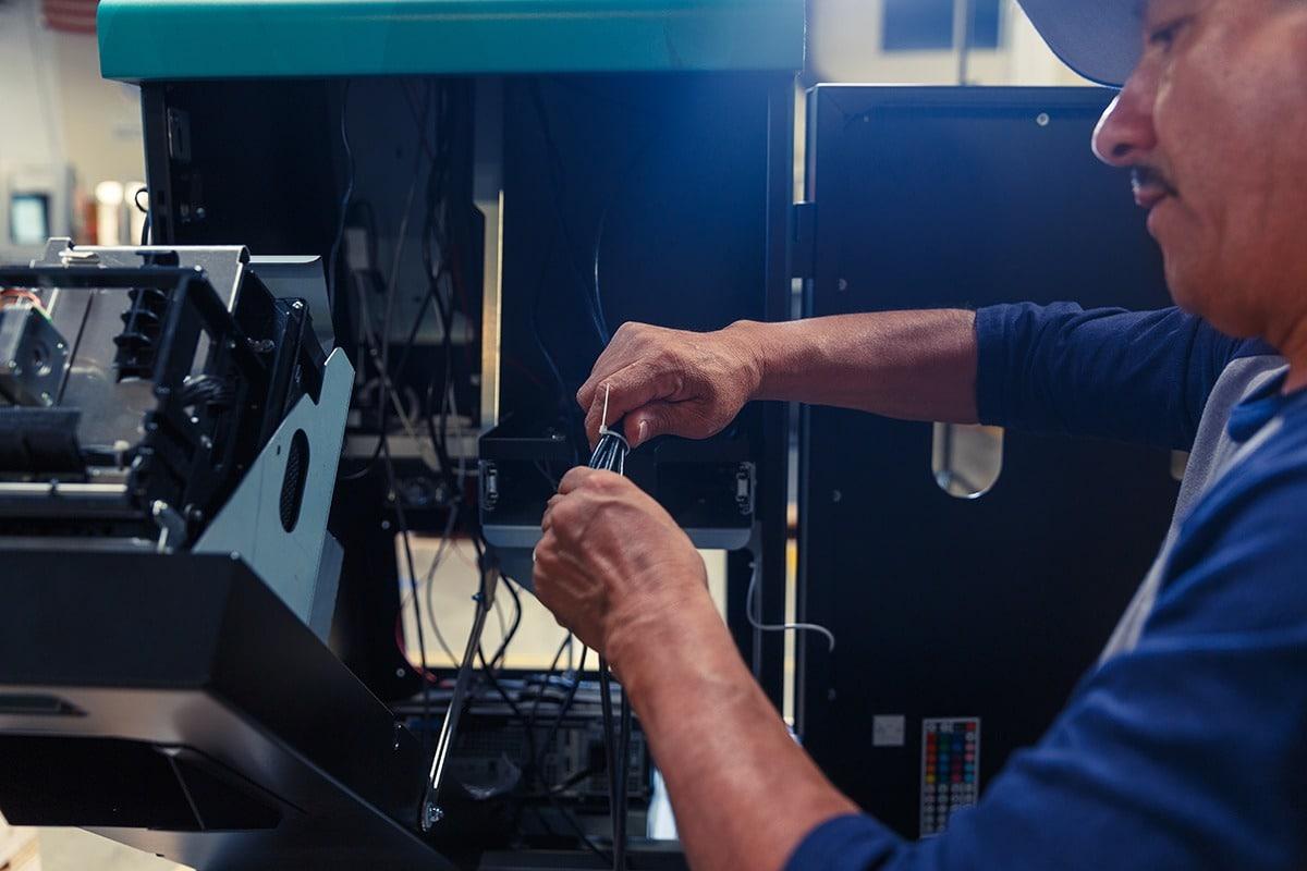 Technician Working at Olea