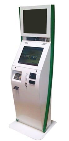 The Boston Interactive Kiosk - Customized for Geisinger in Green and White