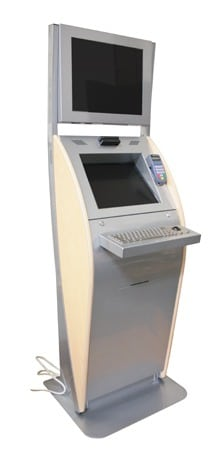 "The ""Boston"" Interactive Kiosk - Customized for Geisinger in Silver"