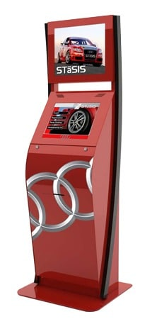 """The """"Boston"""" Interactive Kiosk - Customized in Red"""