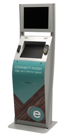 """The """"Boston"""" Interactive Kiosk - Customized logo and colors"""