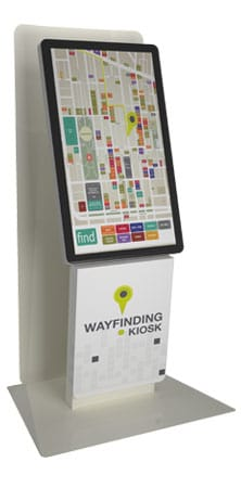 Milan P Backpanel Wayfinding Kiosk