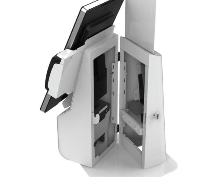 Round Back Austin Desktop Kiosk
