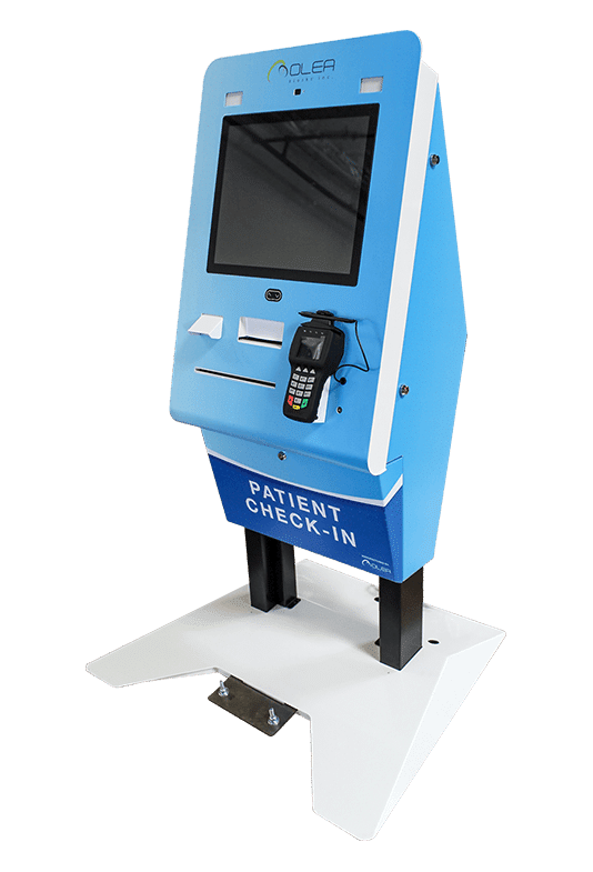 Patient Check-In Kiosk Blue
