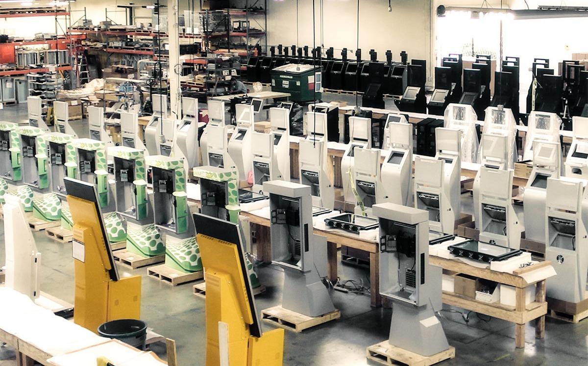 Kiosk Factory Assembly Line