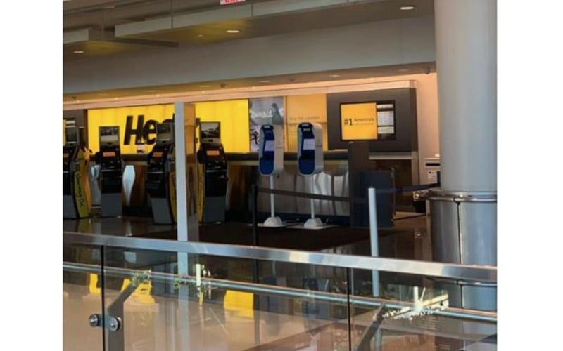 Hertz Clear Check-In Kiosks