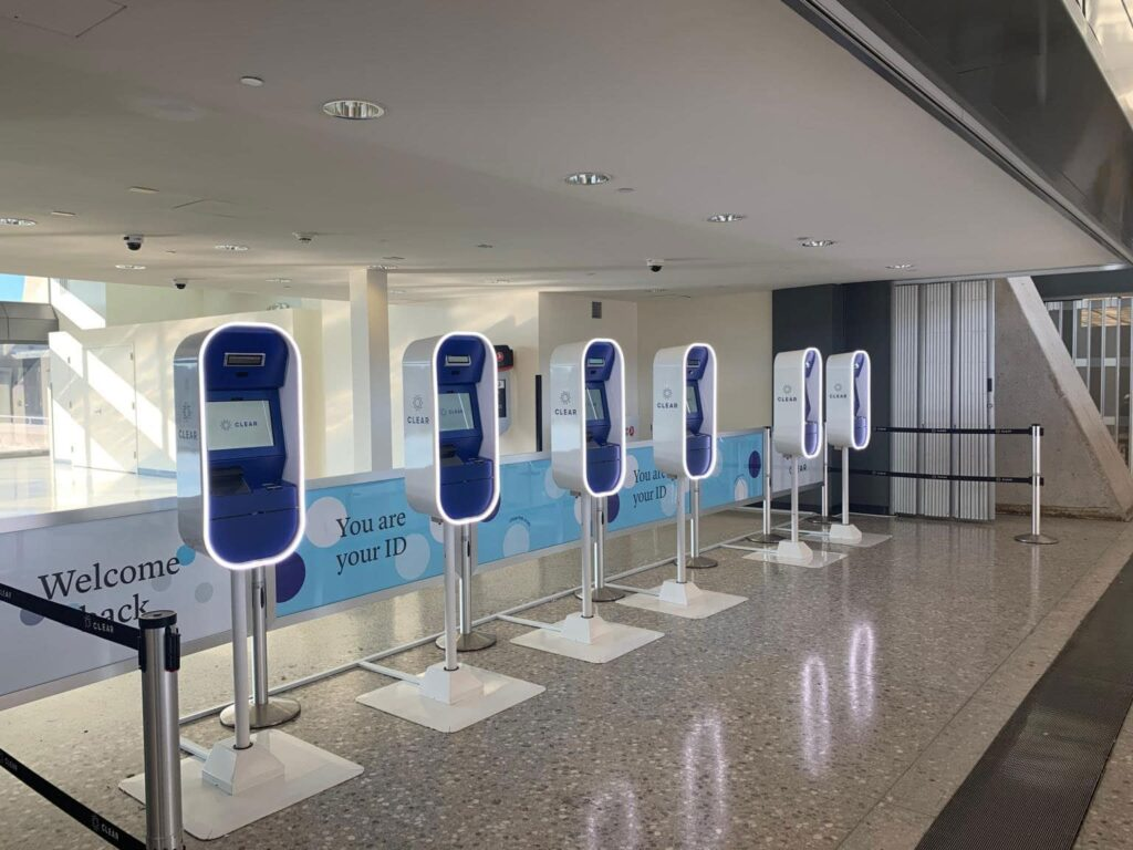 CLEAR Travel Kiosk in Dulles
