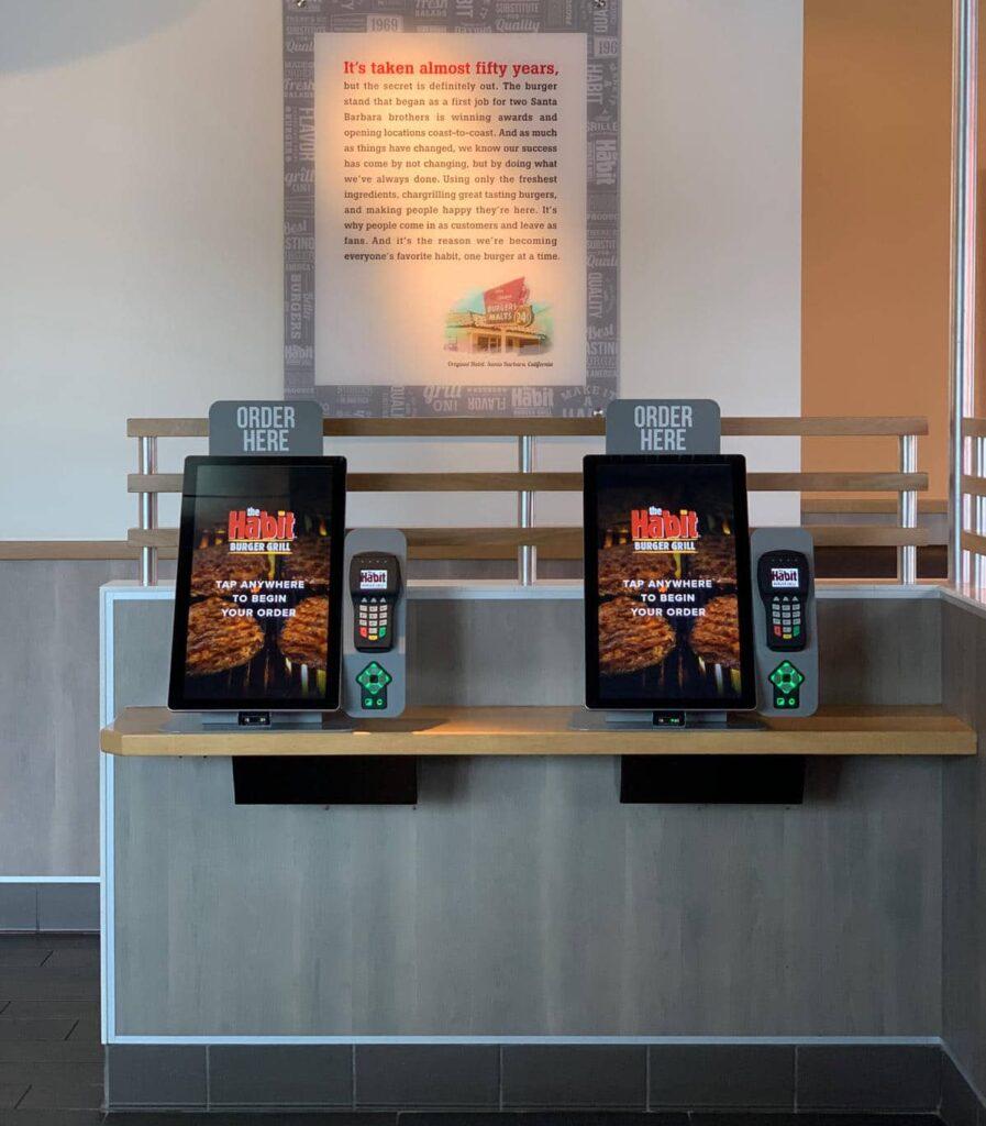 QSR Self-Service Food Ordering Kiosk
