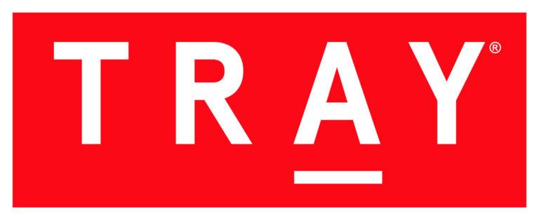 TRAY logo white