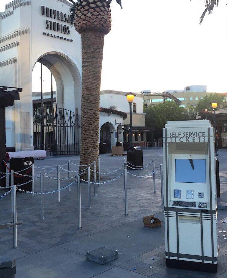 Self Service Kiosk at Universal Studios
