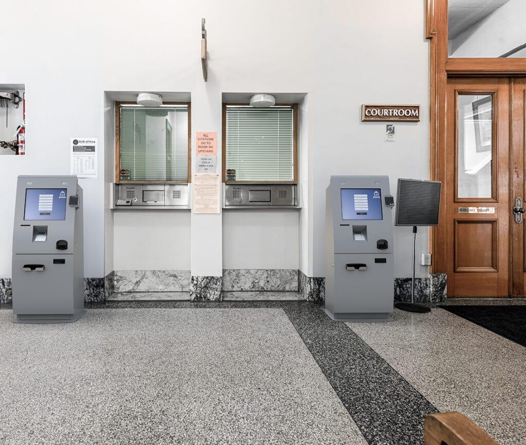 Kiosks in Courtroom