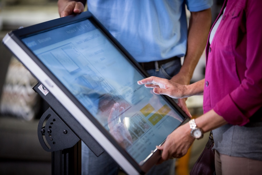 Checking the Catalog with a Kiosk